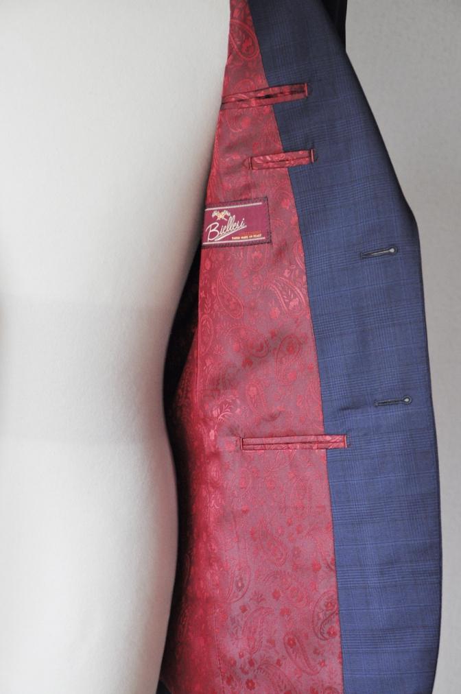 DSC00441 お客様のスーツの紹介-BIELLESI ネイビーチェック-