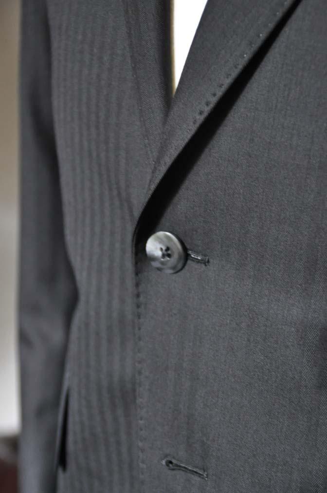 DSC0045-3 お客様のスーツの紹介-ブラックヘリンボーンスーツ- 名古屋の完全予約制オーダースーツ専門店DEFFERT