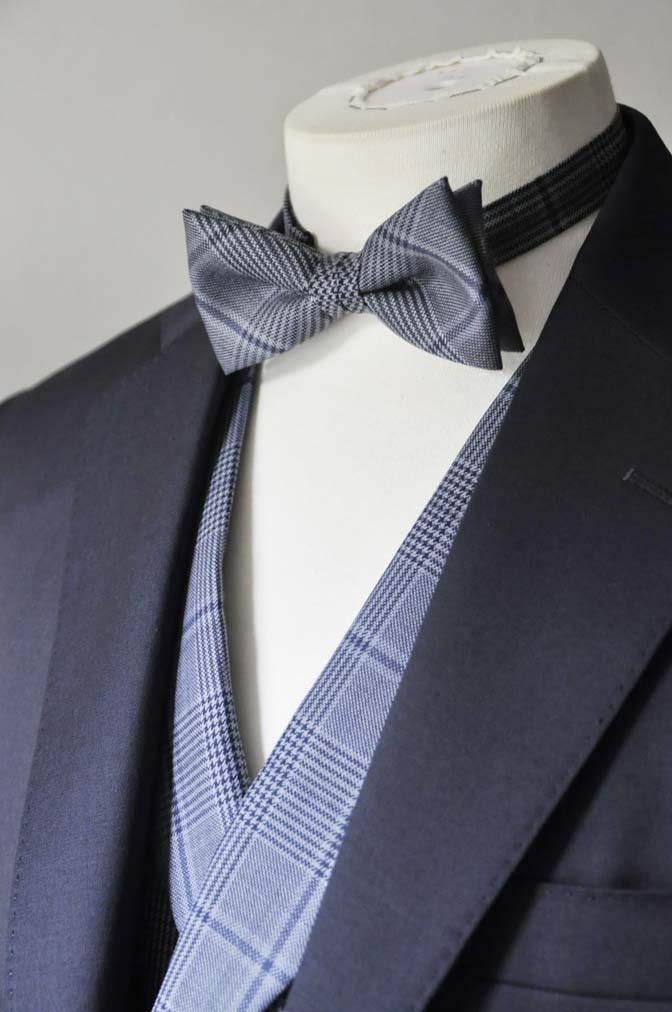DSC0045-4 お客様のウエディング衣装の紹介-Biellesi ネイビースーツ ネイビーチェックベスト-