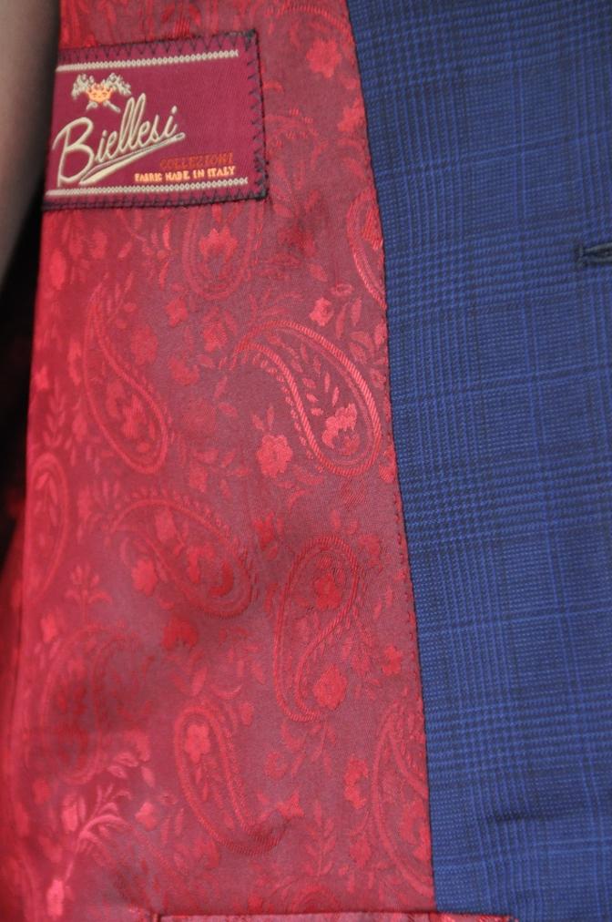 DSC00451 お客様のスーツの紹介-BIELLESI ネイビーチェック-