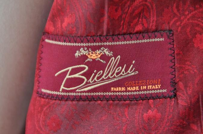 DSC00462 お客様のスーツの紹介-BIELLESI ネイビーチェック-