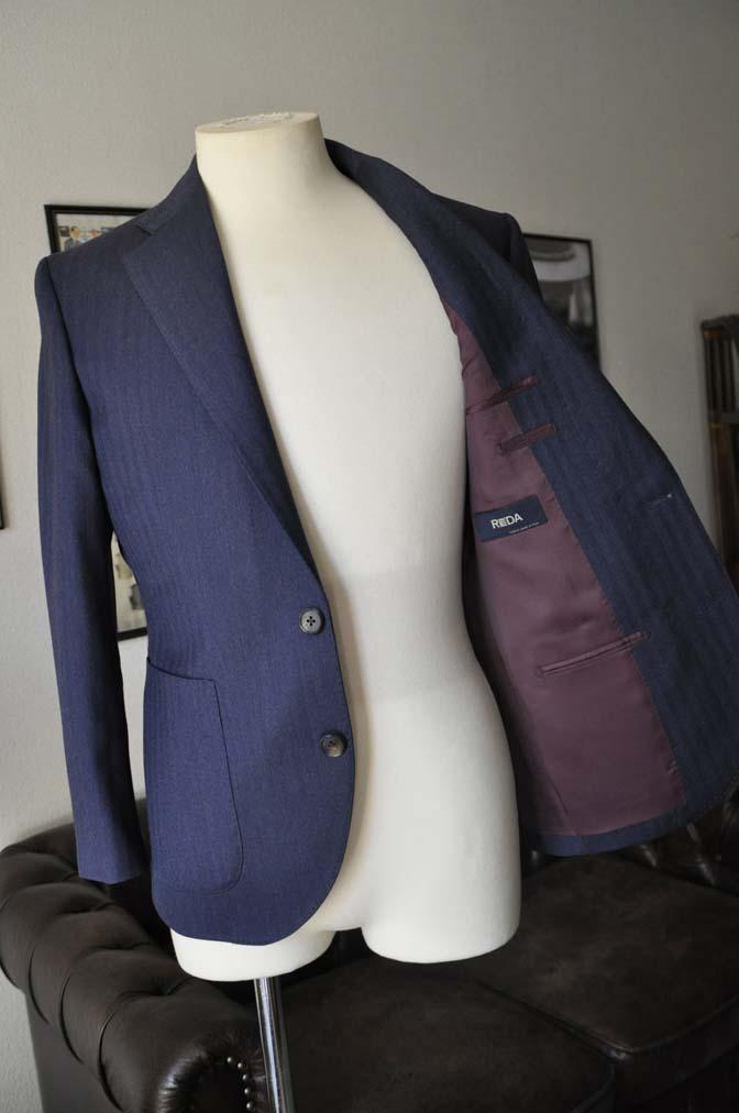 DSC00464 お客様のジャケットの紹介- REDA ネイビーヘリンボーン-