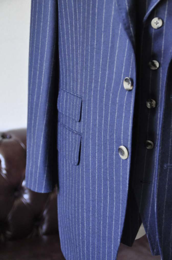 DSC0047-1 お客様のスーツの紹介- DARROW DALE ネイビーストライプスリーピーススーツ-