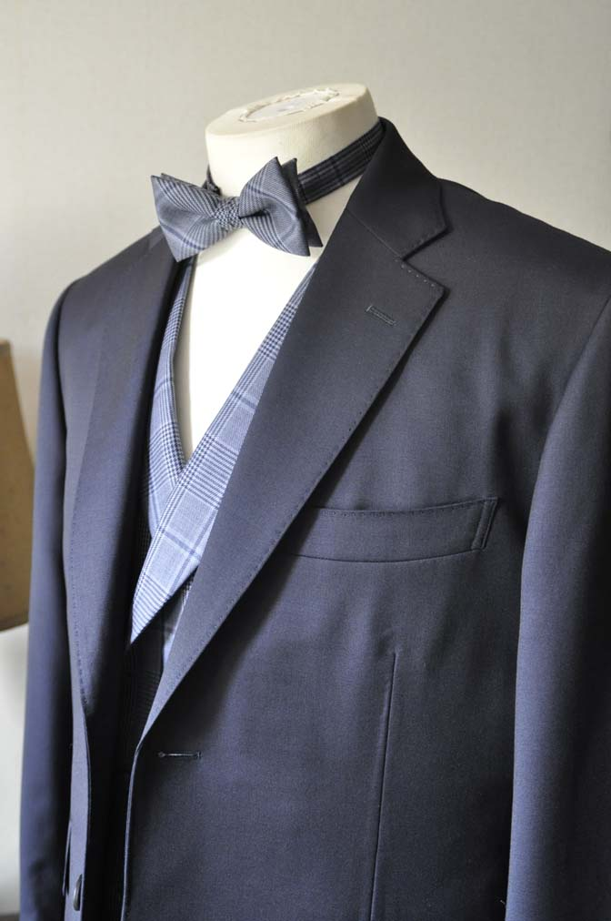DSC0047-2 お客様のウエディング衣装の紹介-Biellesi ネイビースーツ ネイビーチェックベスト-