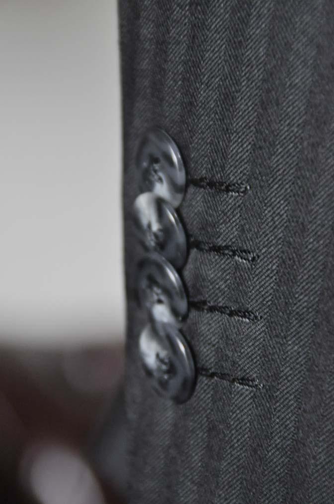 DSC0048-2 お客様のスーツの紹介-ブラックヘリンボーンスーツ- 名古屋の完全予約制オーダースーツ専門店DEFFERT