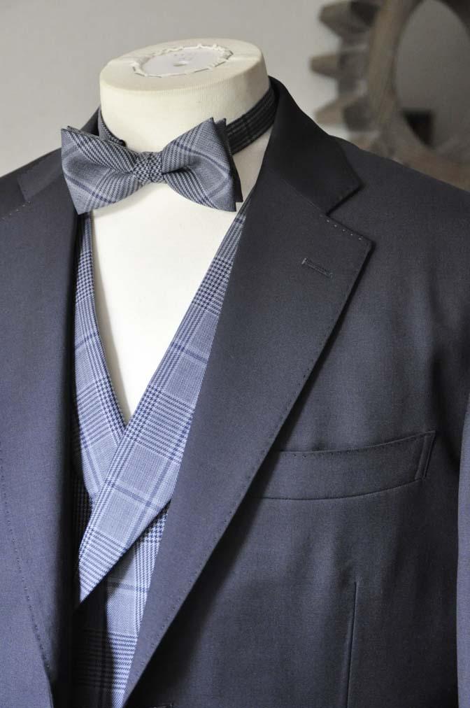 DSC0048-4 お客様のウエディング衣装の紹介-Biellesi ネイビースーツ ネイビーチェックベスト-