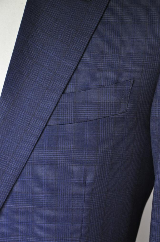 DSC0049 お客様のスーツの紹介-BIELLESI ネイビーチェック-