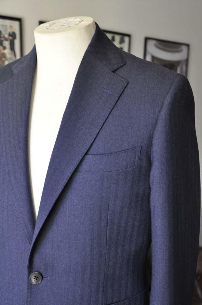 DSC00492 お客様のジャケットの紹介- REDA ネイビーヘリンボーン-