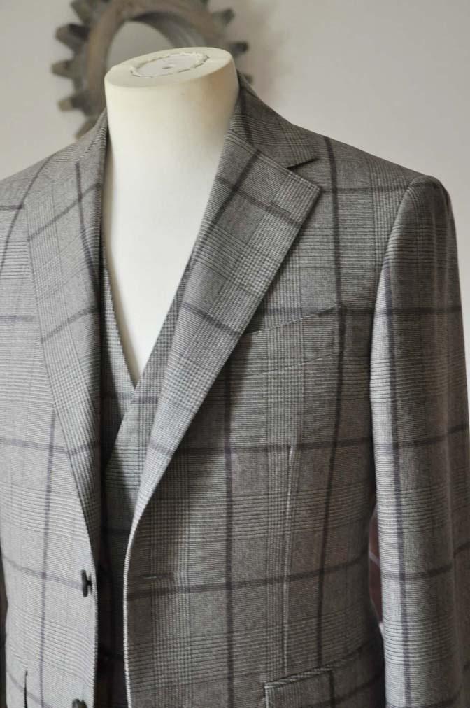 DSC0050-2 お客様のスーツの紹介- DARROW DALE ブラウンチェックスリーピース-