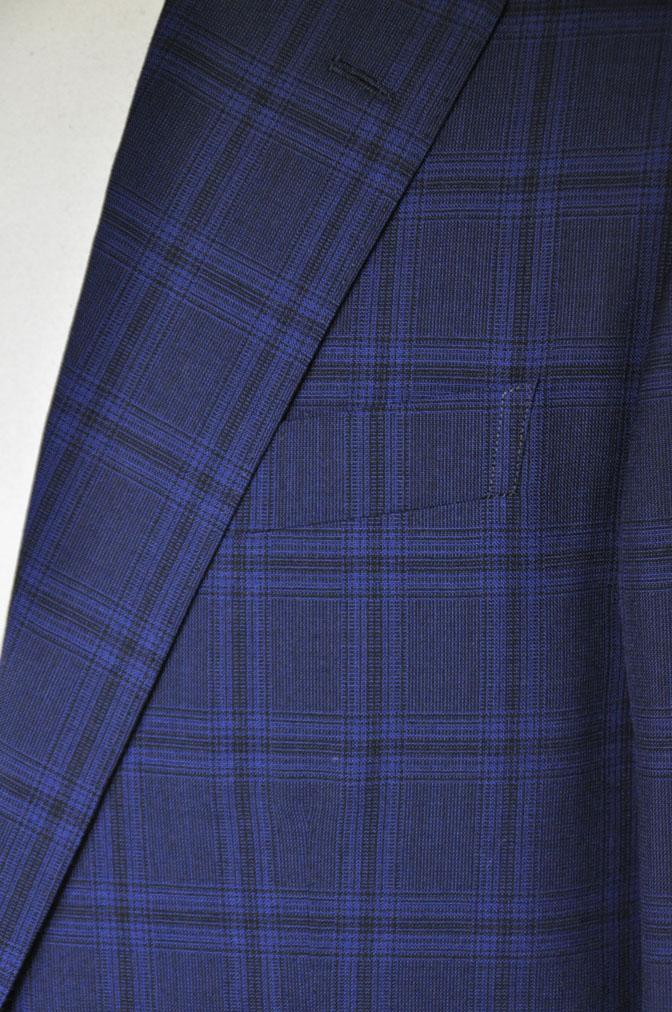 DSC00508 お客様のスーツの紹介-HOLLAND&SHERRY Cool Breezeネイビーチェックスーツ- 名古屋の完全予約制オーダースーツ専門店DEFFERT