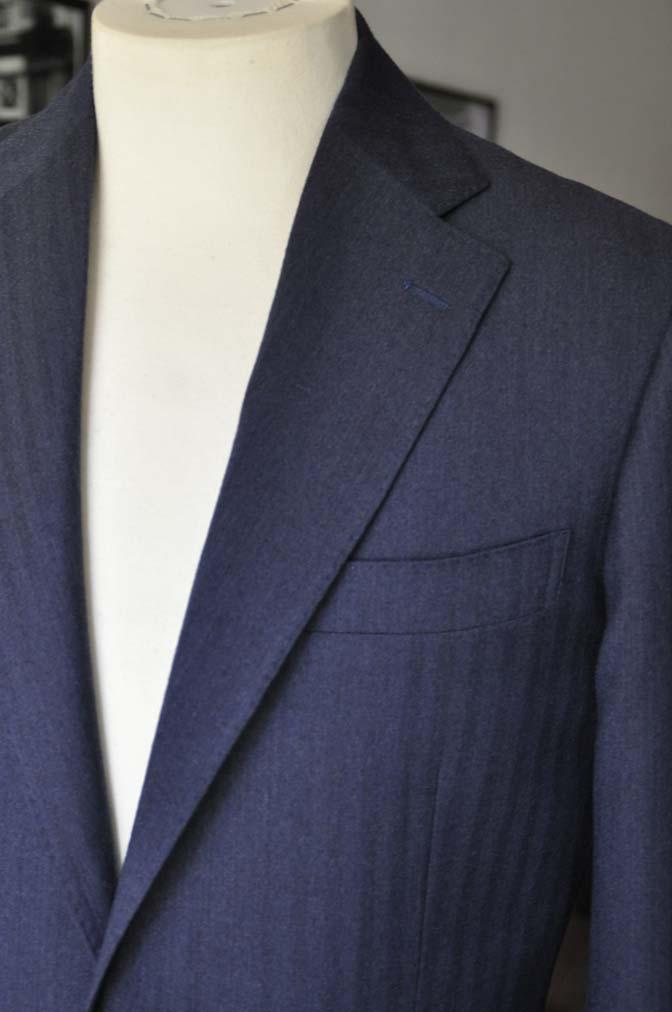 DSC00509 お客様のジャケットの紹介- REDA ネイビーヘリンボーン-