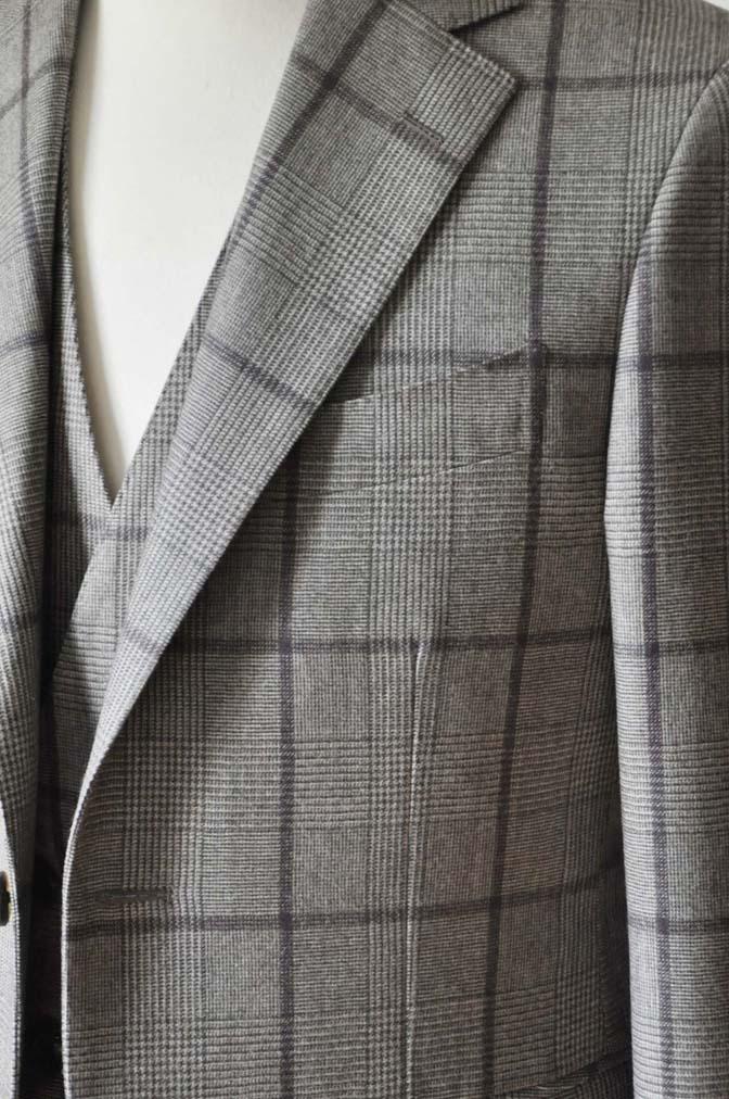 DSC0051-1 お客様のスーツの紹介- DARROW DALE ブラウンチェックスリーピース-