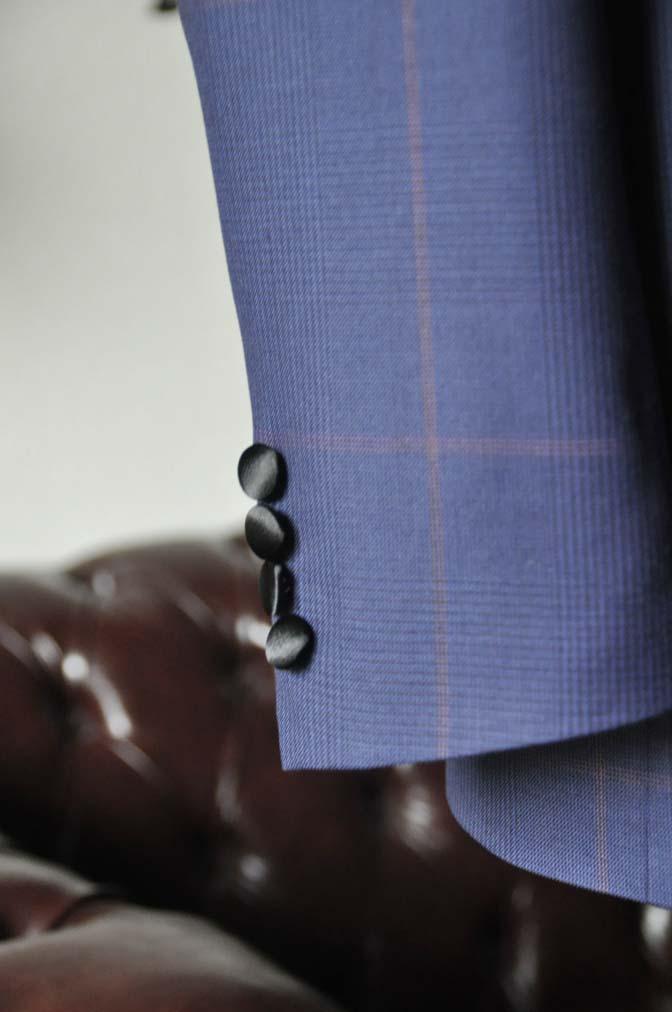 DSC0051-2 お客様のウエディング衣装の紹介- Biellesiネイビーグレンチェックタキシードジャケット/ベスト、ブラックパンツ-