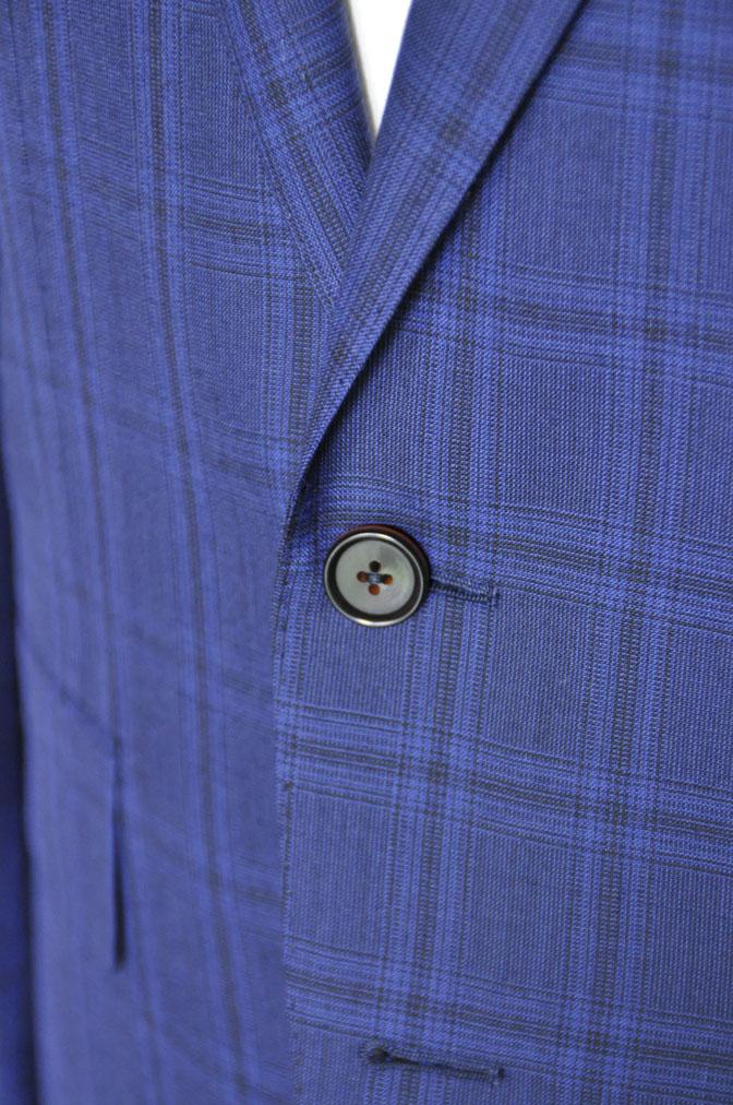 DSC00512 お客様のスーツの紹介-HOLLAND&SHERRY Cool Breezeネイビーチェックスーツ- 名古屋の完全予約制オーダースーツ専門店DEFFERT