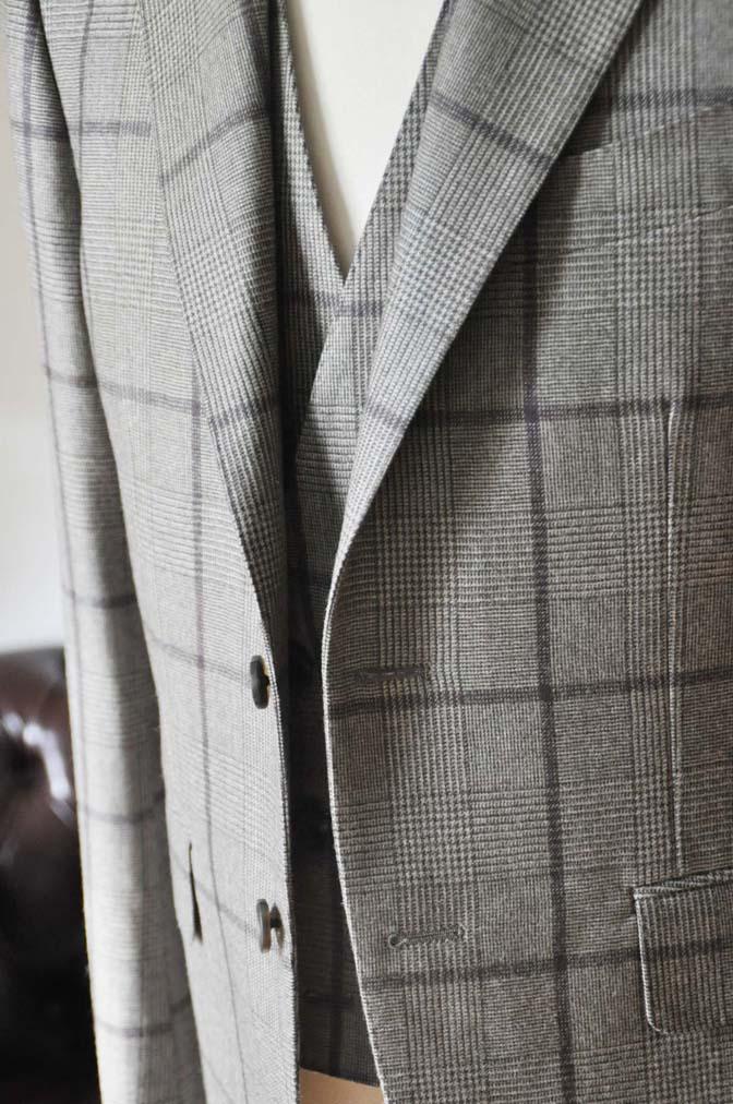 DSC0052-2 お客様のスーツの紹介- DARROW DALE ブラウンチェックスリーピース-