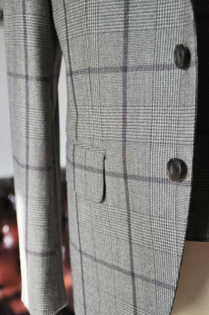 DSC0054-1 お客様のスーツの紹介- DARROW DALE ブラウンチェックスリーピース-