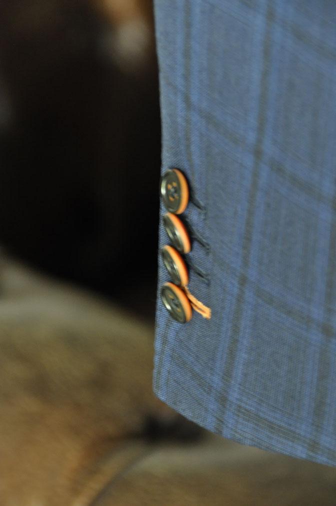 DSC00552 お客様のスーツの紹介-HOLLAND&SHERRY Cool Breezeネイビーチェックスーツ- 名古屋の完全予約制オーダースーツ専門店DEFFERT