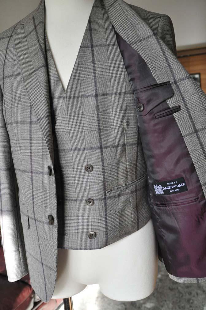 DSC0056-3 お客様のスーツの紹介- DARROW DALE ブラウンチェックスリーピース-