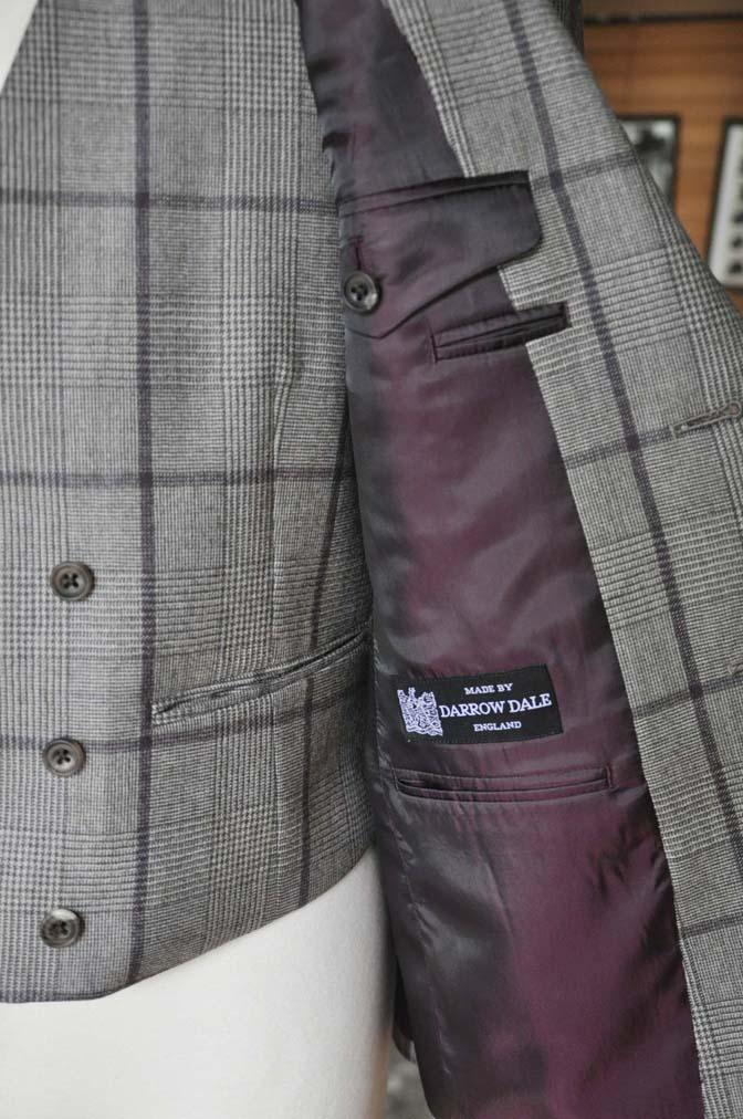 DSC0057-1 お客様のスーツの紹介- DARROW DALE ブラウンチェックスリーピース-
