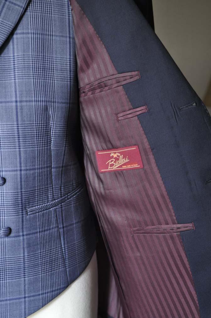 DSC0058-2 お客様のウエディング衣装の紹介-Biellesi ネイビースーツ ネイビーチェックベスト-