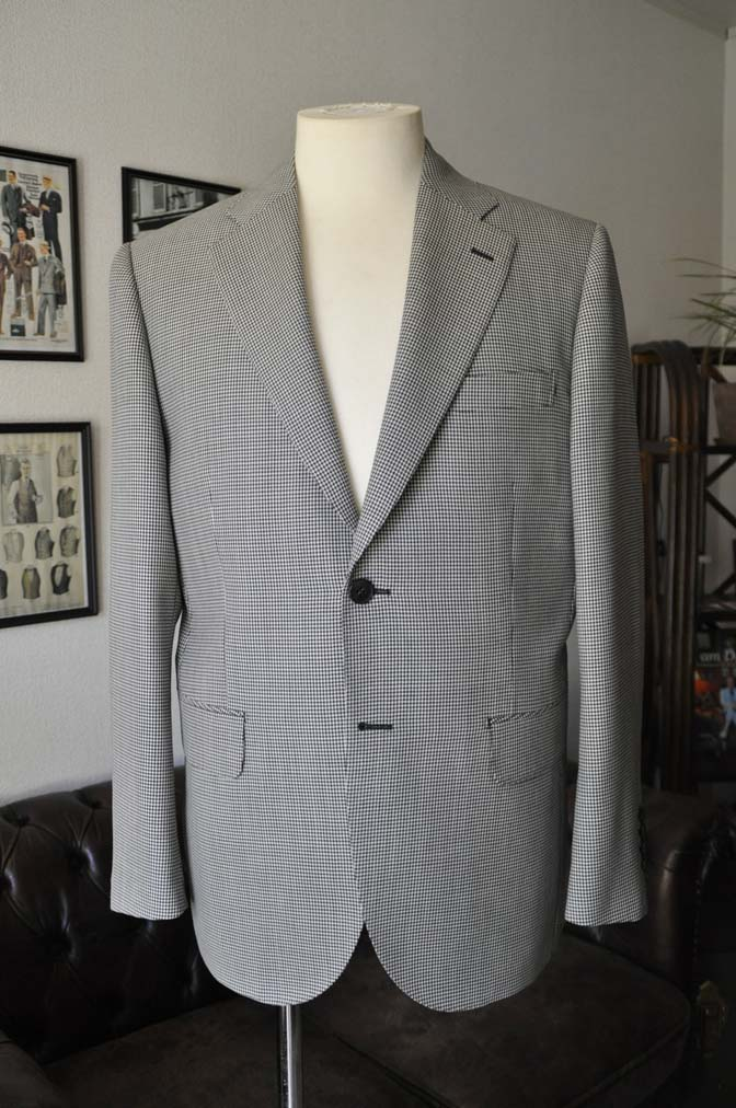 DSC00641 お客様のジャケットの紹介-千鳥格子シングルジャケット-
