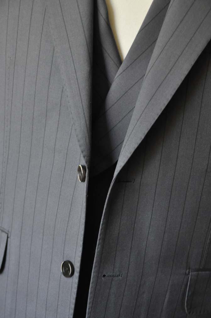 DSC0068-1 お客様のスーツの紹介- Biellesi グレーストライプスリーピース-