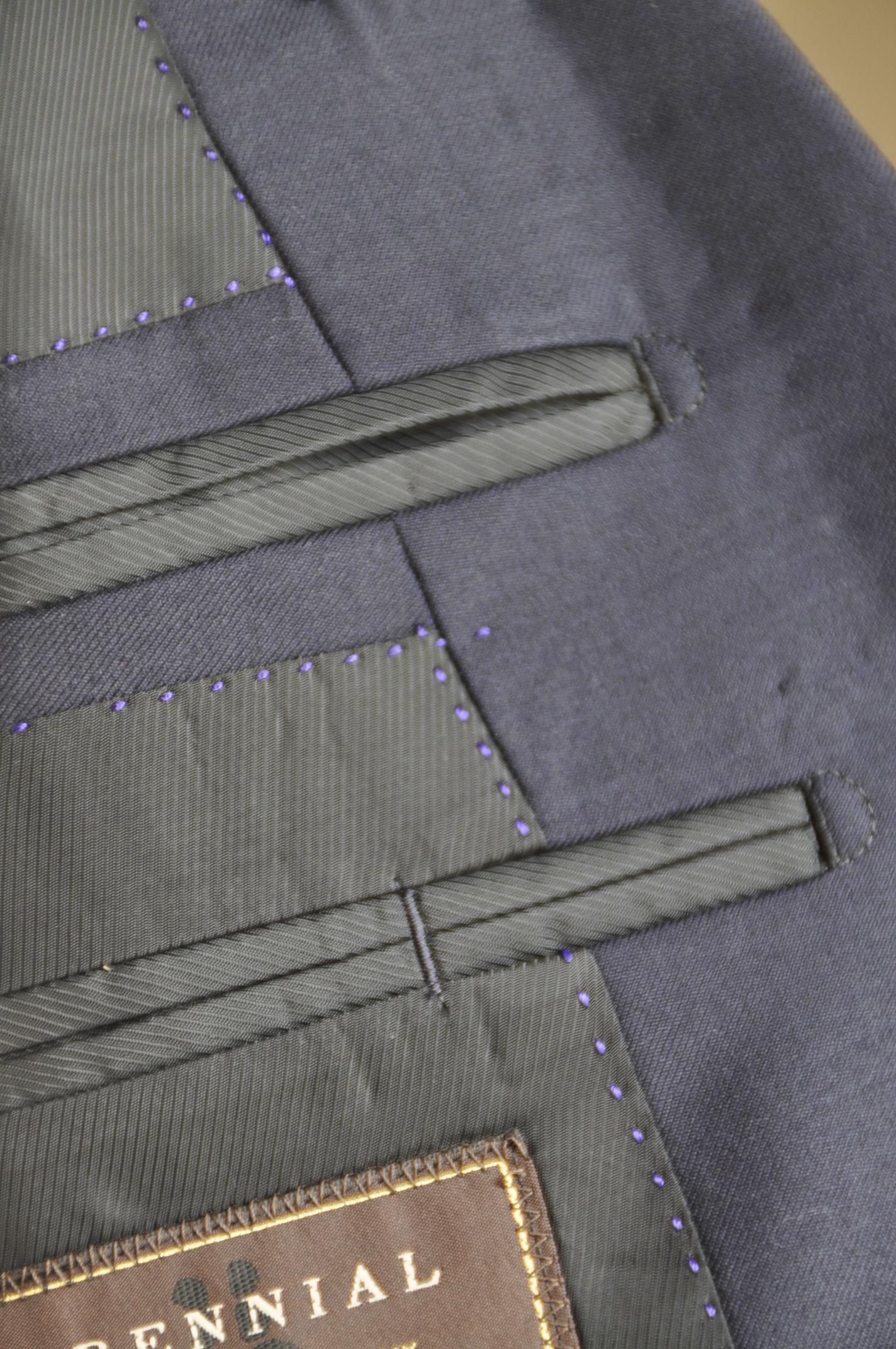 DSC00681 オーダースーツ- CANONICO ソリッドネイビースーツ-