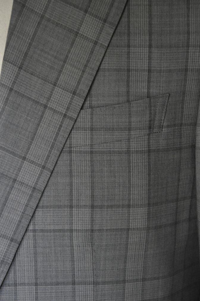 DSC00683 お客様のスーツの紹介-DORMEUIL Tropical Amadeus グレーチェック -