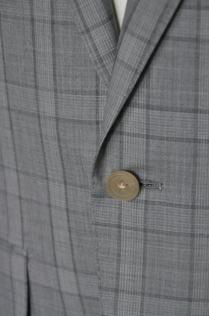 DSC00693 お客様のスーツの紹介-DORMEUIL Tropical Amadeus グレーチェック -