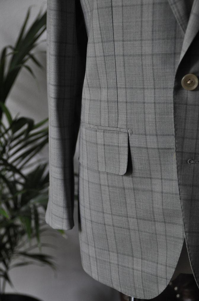 DSC00704 お客様のスーツの紹介-DORMEUIL Tropical Amadeus グレーチェック -