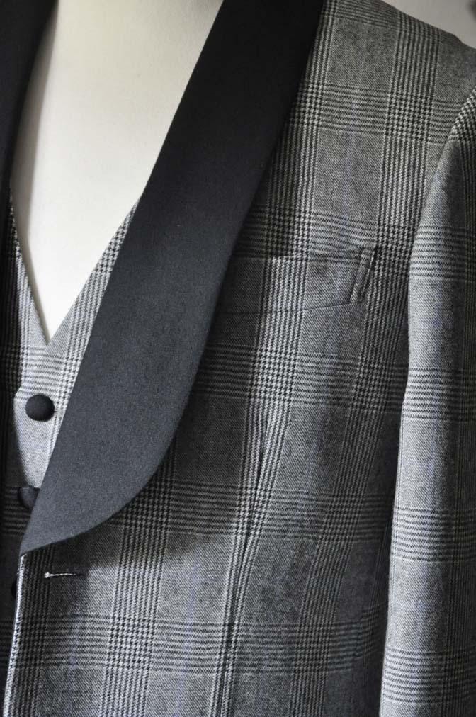 DSC0076-2 お客様のウエディング衣装の紹介- DARROW DALEグレンチェックフランネルタキシード風衣装-DSC0076-2 お客様のウエディング衣装の紹介- DARROW DALEグレンチェックフランネルタキシード風衣装- 名古屋市のオーダータキシードはSTAIRSへ