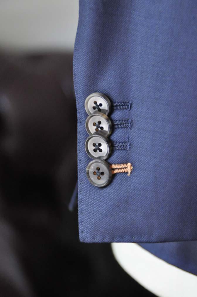 DSC0079-4 お客様のスーツの紹介- CANONICO無地ネイビー スリーピース-