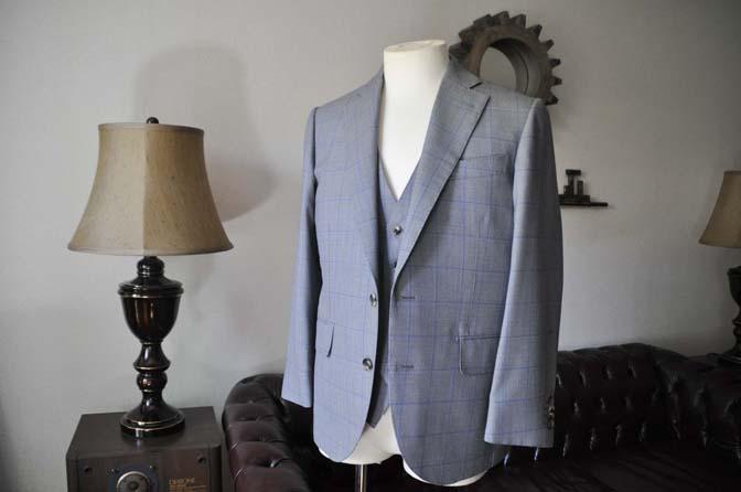 DSC0081-3 お客様のスーツの紹介- CARLO BARBERA グレーウィンドペン バーズアイ-
