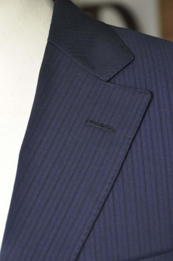 DSC00831 お客様のスーツの紹介-Biellesi ネイビーストライプ-