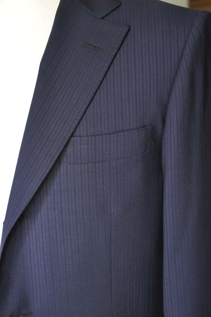 DSC00842 お客様のスーツの紹介-Biellesi ネイビーストライプ-