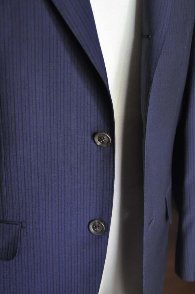 DSC00852 お客様のスーツの紹介-Biellesi ネイビーストライプ-