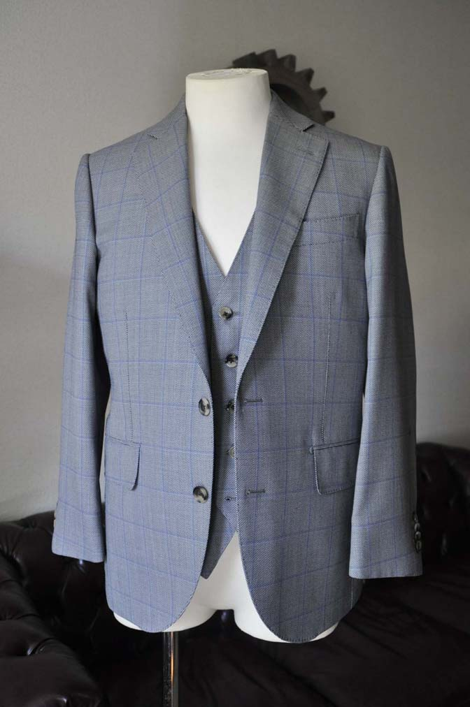 DSC0086-2 お客様のスーツの紹介- CARLO BARBERA グレーウィンドペン バーズアイ-