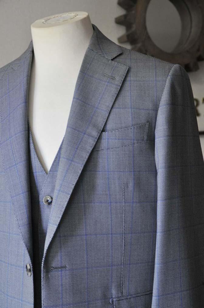 DSC0087-3 お客様のスーツの紹介- CARLO BARBERA グレーウィンドペン バーズアイ-