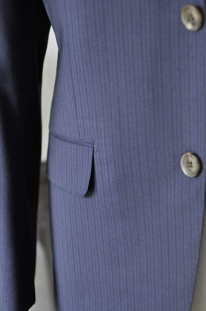 DSC00872 お客様のスーツの紹介-Biellesi ネイビーストライプ-