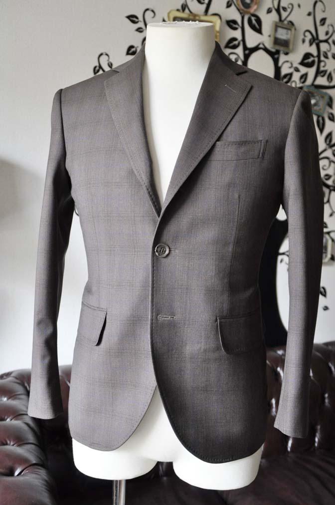 DSC0088-4 お客様のスーツの紹介-Biellesiブラウンチェックスーツ-