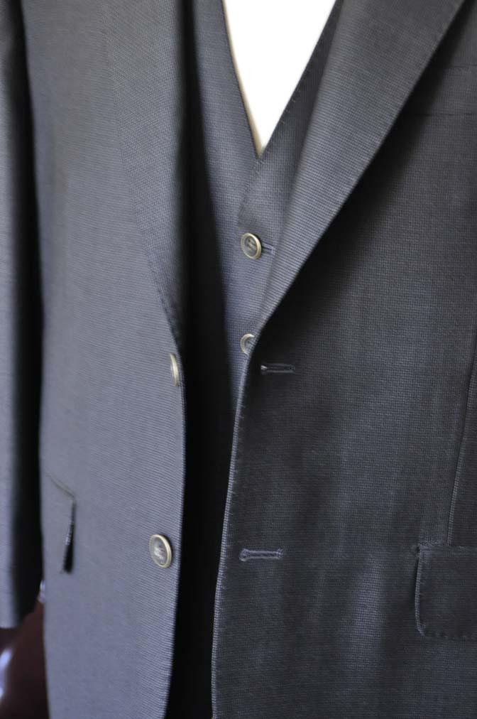 DSC0089-1 お客様のスーツの紹介- DUGDALE BROS 無地ネイビースリーピース- 名古屋の完全予約制オーダースーツ専門店DEFFERT