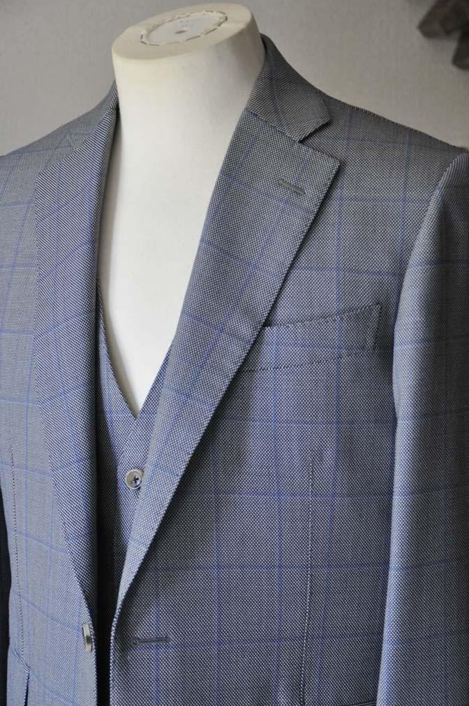 DSC0089-2 お客様のスーツの紹介- CARLO BARBERA グレーウィンドペン バーズアイ-