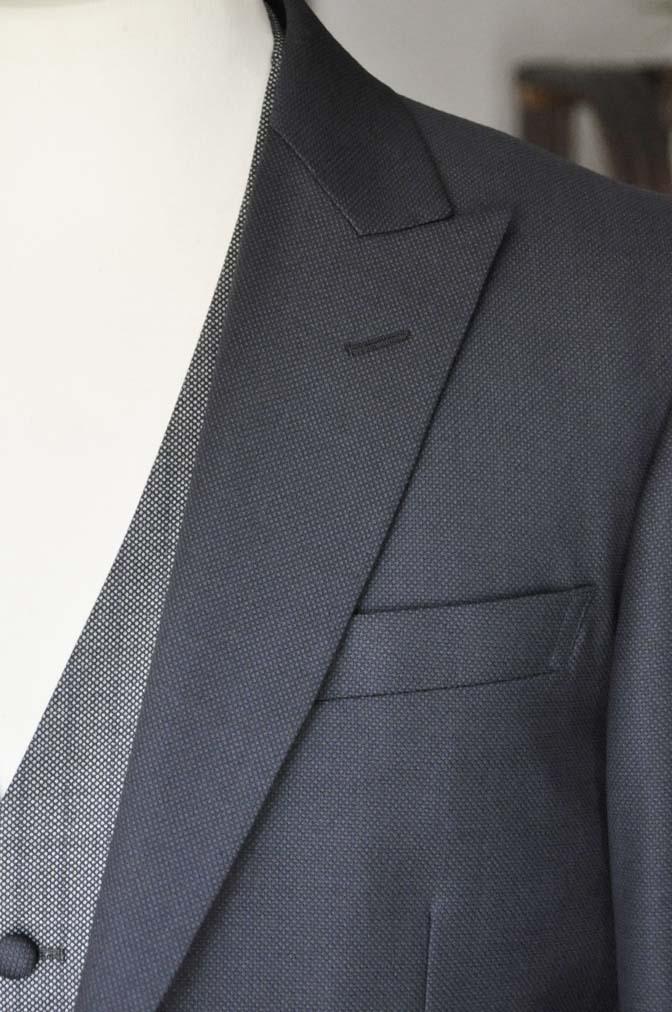 DSC00892 お客様のウエディング衣装の紹介- ネイビーバーズアイスーツ、グレーベスト-DSC00892 お客様のウエディング衣装の紹介- ネイビーバーズアイスーツ、グレーベスト- 名古屋市のオーダータキシードはSTAIRSへ