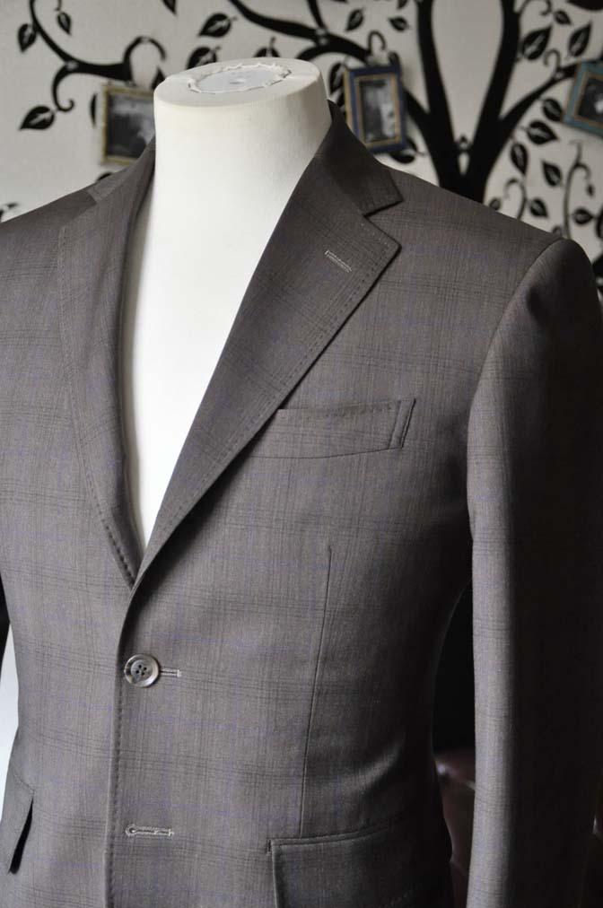 DSC0090-4 お客様のスーツの紹介-Biellesiブラウンチェックスーツ-