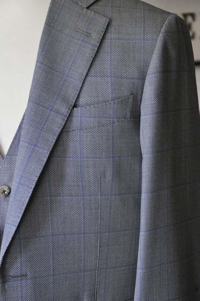 DSC0091-3 お客様のスーツの紹介- CARLO BARBERA グレーウィンドペン バーズアイ-
