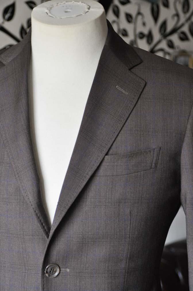 DSC0091-5 お客様のスーツの紹介-Biellesiブラウンチェックスーツ-