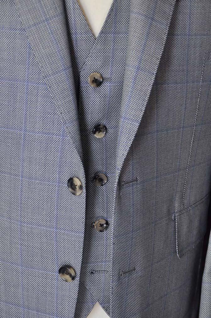 DSC0092-3 お客様のスーツの紹介- CARLO BARBERA グレーウィンドペン バーズアイ-