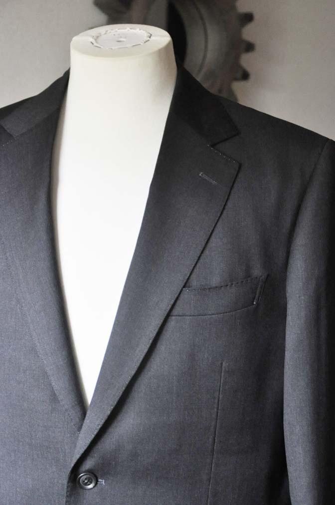 DSC0092-4 お客様のスーツの紹介-Biellesi無地グレースーツ-