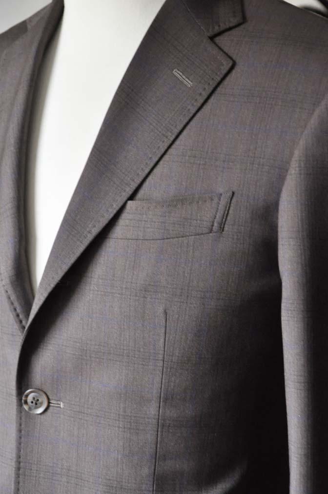 DSC0092-5 お客様のスーツの紹介-Biellesiブラウンチェックスーツ-