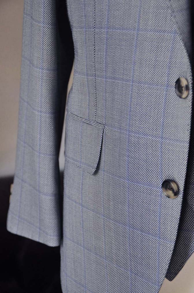DSC0093-2 お客様のスーツの紹介- CARLO BARBERA グレーウィンドペン バーズアイ-